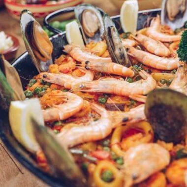 Paella marinera vis