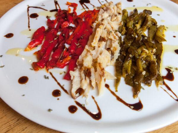 kabeljauw salade tapa